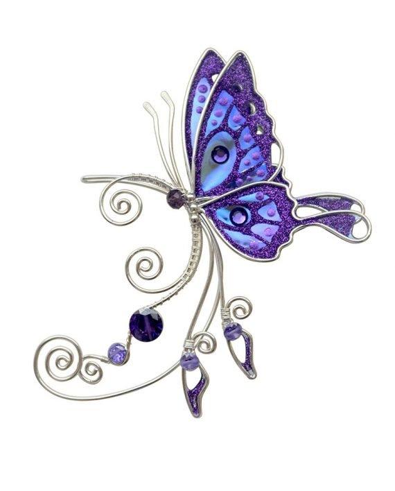 Кафф бабочка фиолетовый купить