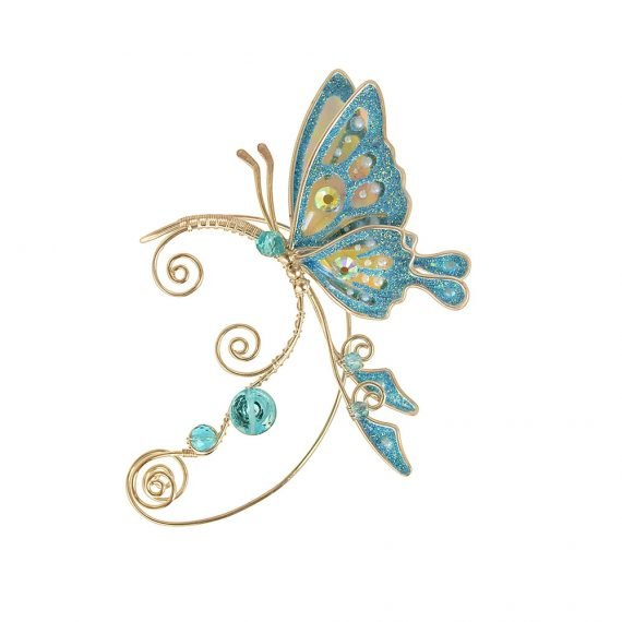 кафф бабочка голубой на ухо