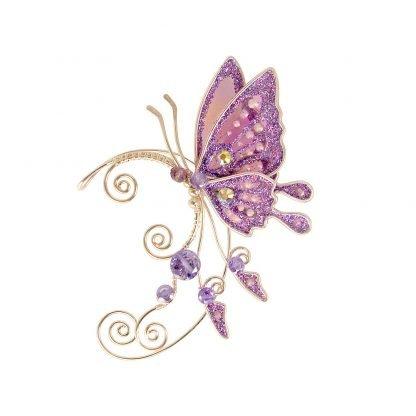 Кафф бабочка сиреневый на ухо
