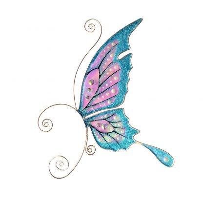 Кафф бабочка заколка бирюзовая купить