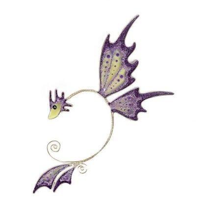 Кафф бабочка заколка фиолетовый купить