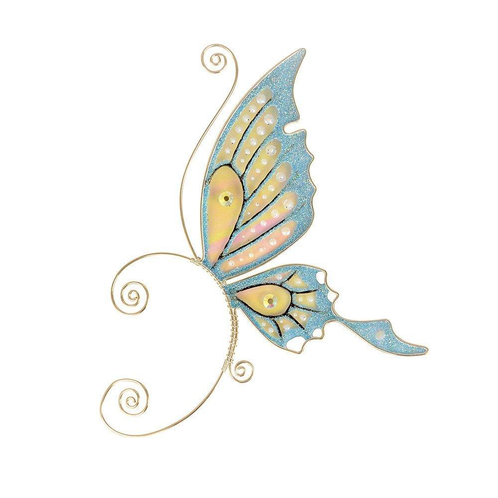 Кафф бабочка заколка голубая купить