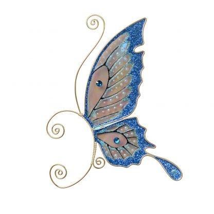 Кафф бабочка заколка синяя купить