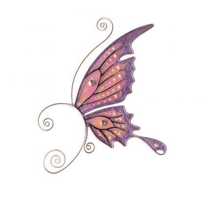 Кафф бабочка заколка сиреневая купить