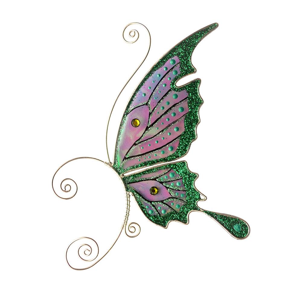 кафф бабочка заколка зеленая купить