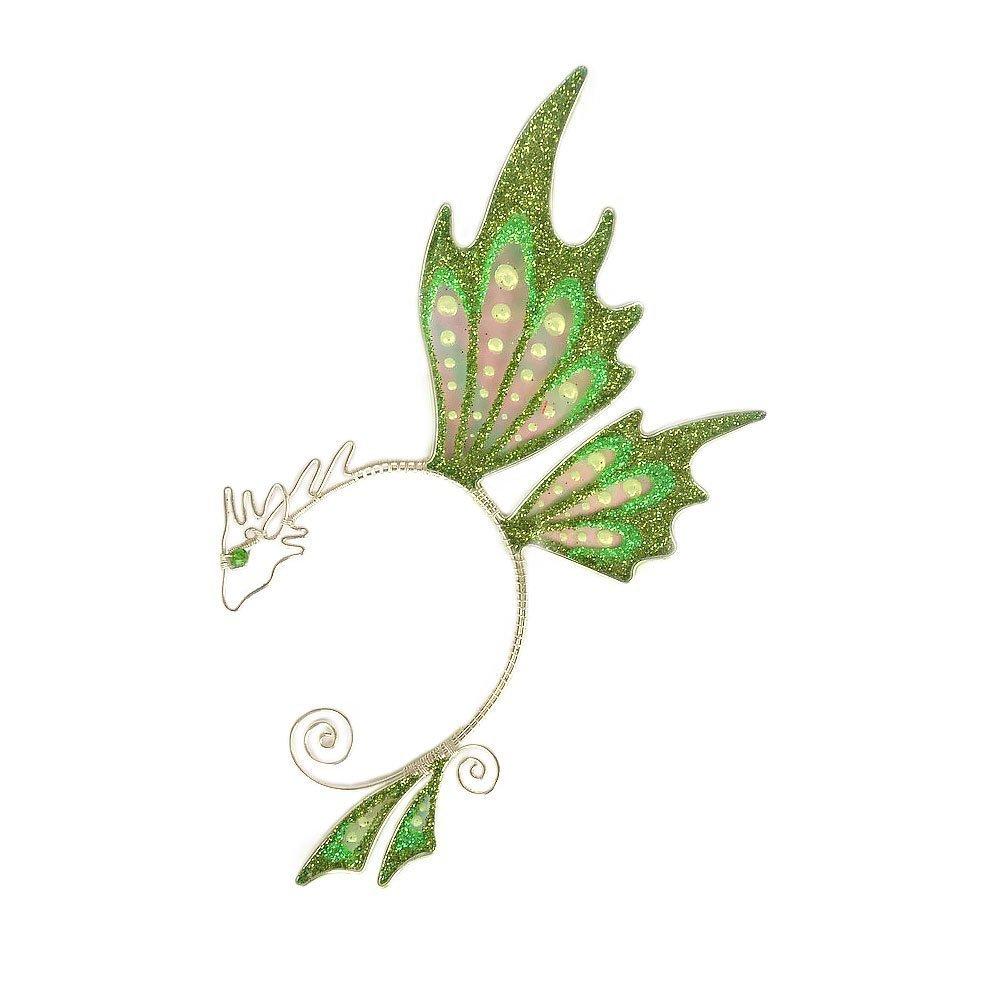 Кафф бабочка заколка зеленый купить