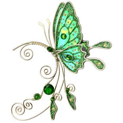 Кафф бабочка зеленый