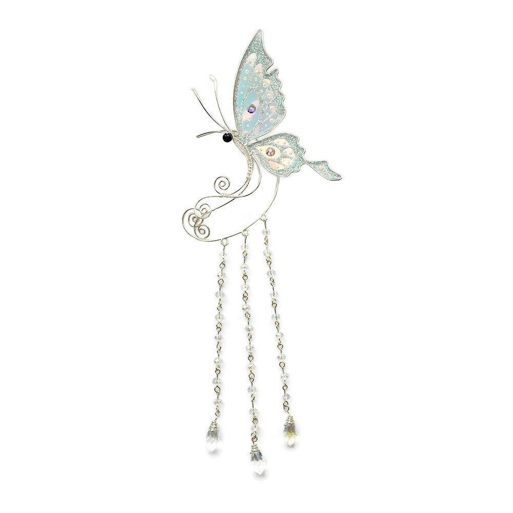 Кафф большая бабочка с подвесками белая купить
