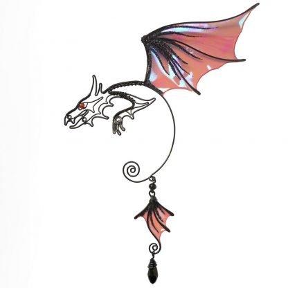 Кафф дракон заколка черный