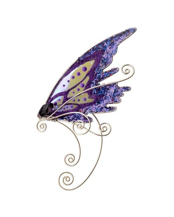 Кафф эльфийское крылышко фиолетовое на ухо