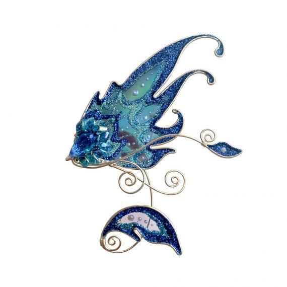 Кафф эльфийское крылышко голубое купить