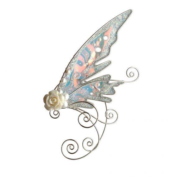 Кафф эльфийское крылышко с жемчугом купить