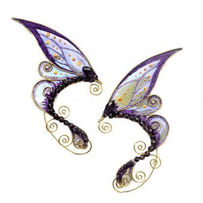 Каффы ушки феи фиолетовые хэндмейд