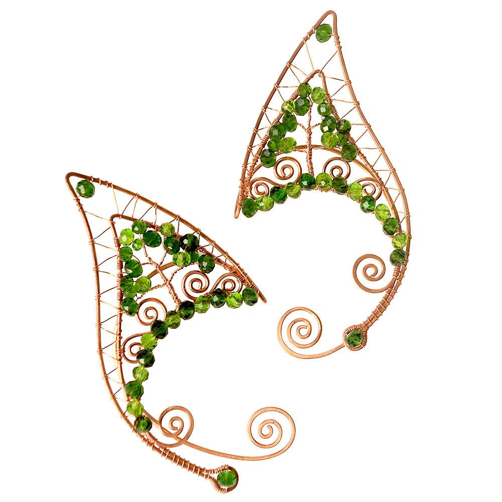 Каффы сказки леса зеленые на ушко