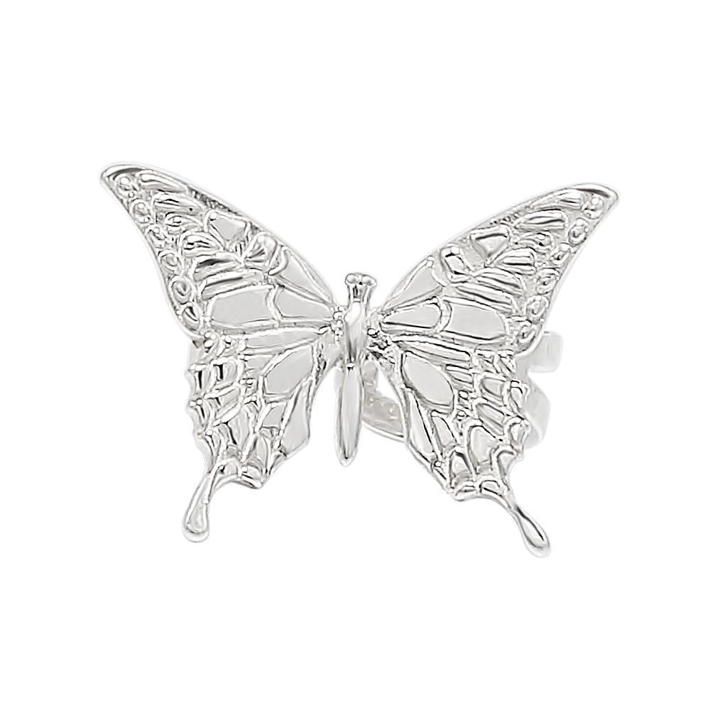 бабочка блестящая каффа серьги кафф
