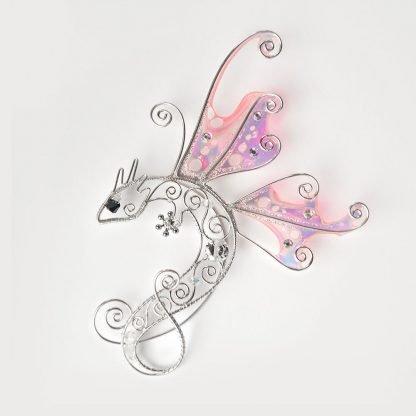 Кафф дракон бабочка розовый