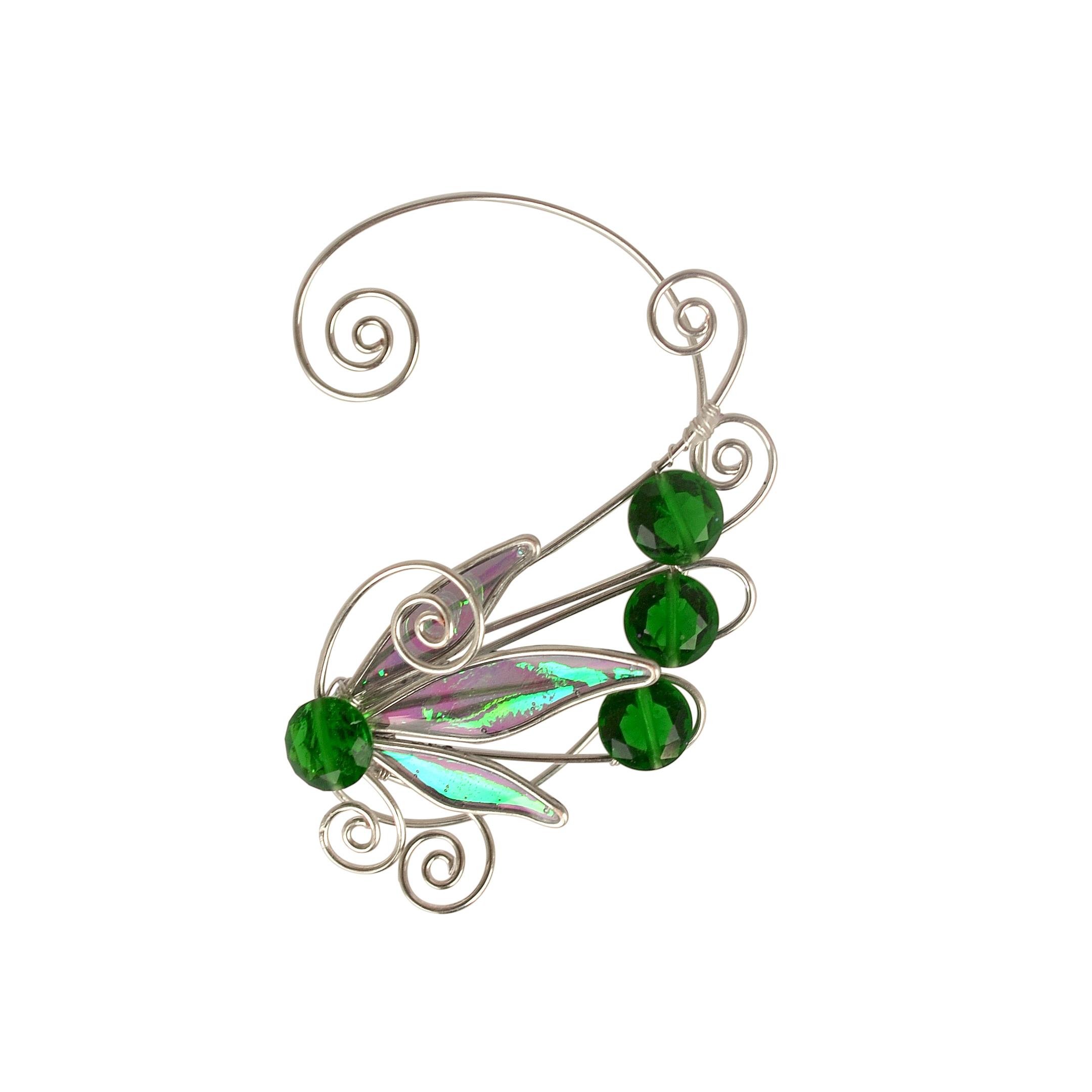Кафф крылышко зеленое