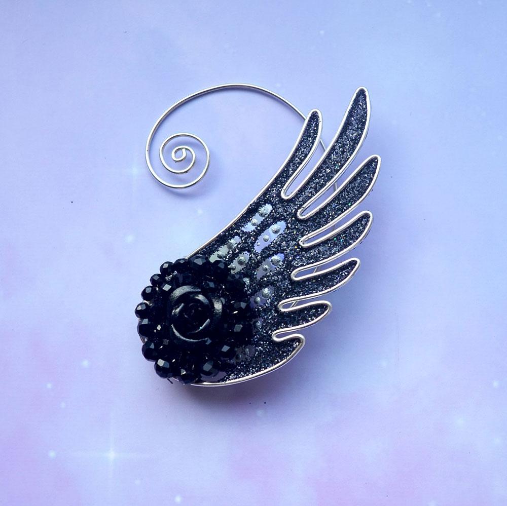 Кафф ангел черный