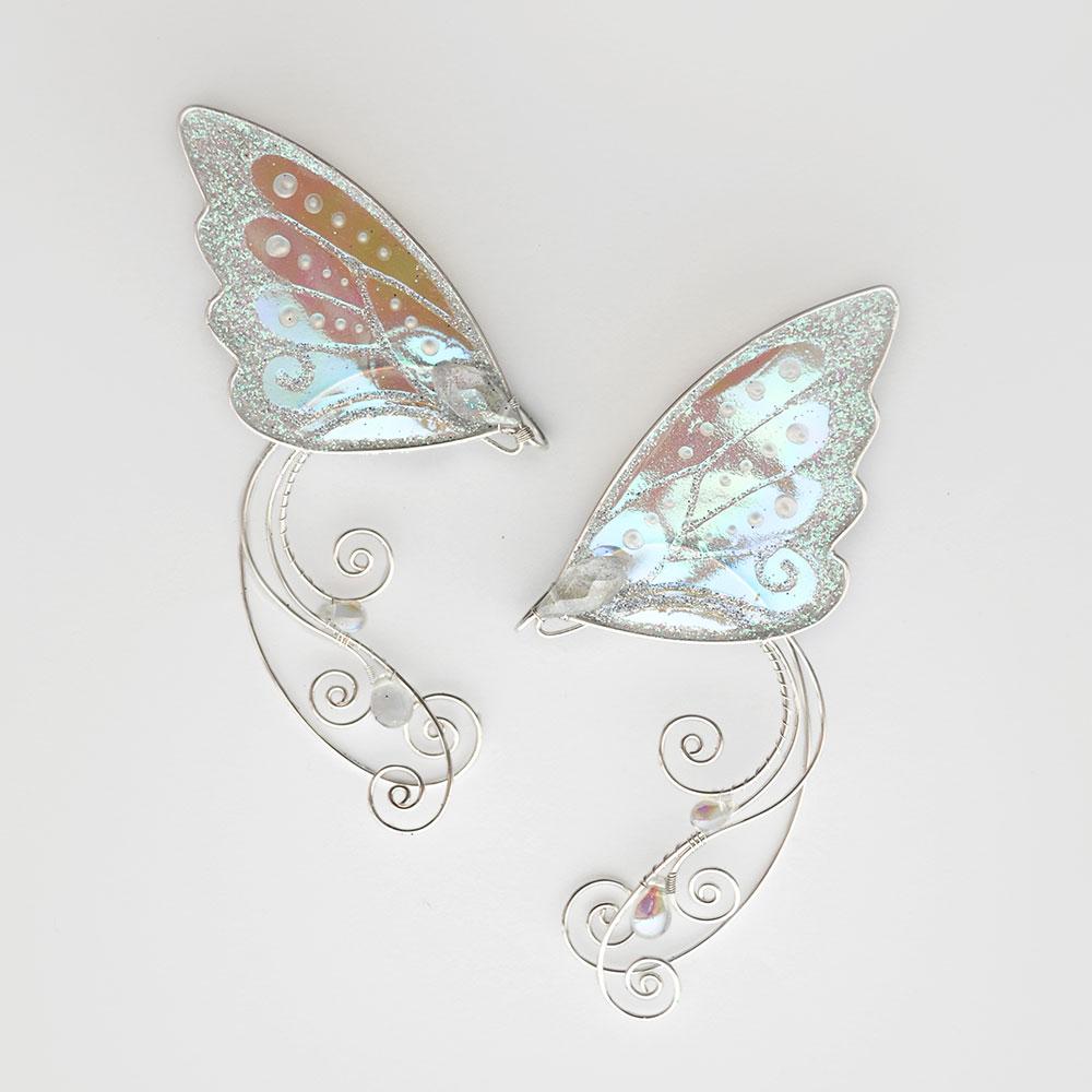 кафф ушки бабочки белые