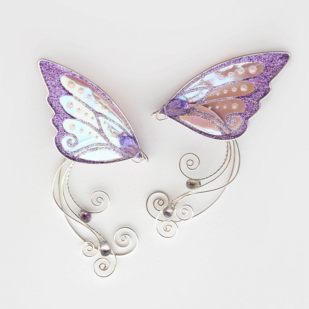 Кафф ушки бабочки сиреневые санлайт