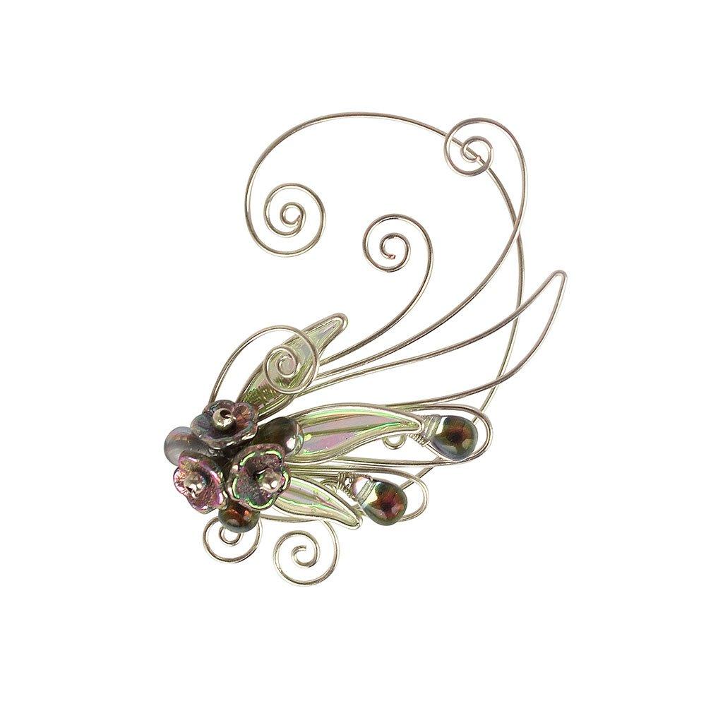 Кафф крылышко цветок зеленое