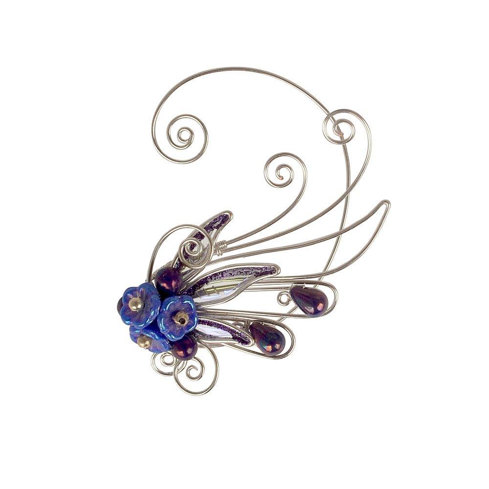 Кафф крылышко цветок фиолетовое